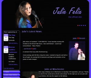 Julie Felix Website