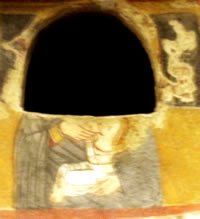 Madonna in catacomb of St Agatha